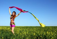 Free Young Beautiful Woman On Field In Summer Stock Image - 14817051