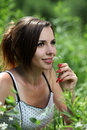Free Girl Smell A Flower Stock Image - 14832611
