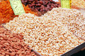 Free Nuts On Market Stand Royalty Free Stock Photo - 14833395