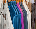 Free Clothing Hanging On A Rail Royalty Free Stock Photos - 14835808
