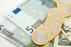 Free Euros And Dollars Stock Image - 14832291