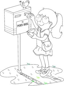 Free A Girl Near A Post Box Royalty Free Stock Images - 14832429