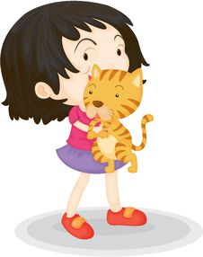 Free A Girl With A Cub Royalty Free Stock Image - 14832476