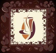 Free Coffee Design With Beans Frame Royalty Free Stock Photography - 14832967