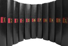 Books With Numbers | Isolated Stock Photography