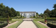 Orangery And Peacock Garden At Warwick Castle Royalty Free Stock Photo