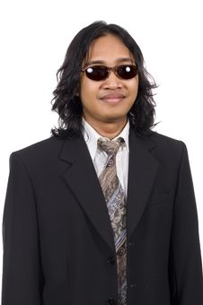 Free Long Hair Man Wearing Suit Stock Image - 14833511