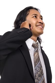 Free Business Man Make A Call Royalty Free Stock Image - 14833536