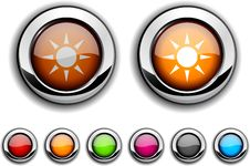 Free Sun Button. Stock Image - 14833591