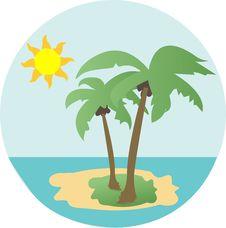 Free Palm Trees At Beach Royalty Free Stock Photo - 14833605