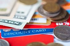 Plastic Cards And  Money Stock Images