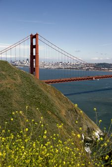 Golden Gate Bridge On A Summer Day Stock Images