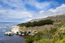 Mountain Landscape In California S Big Sur Royalty Free Stock Photo