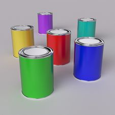 Free Paint Buckets Stock Photography - 14834202