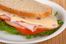 Free Ham On Rye Royalty Free Stock Photography - 14834297