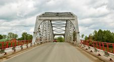 Free Metal Road Bridge Over The River Royalty Free Stock Photography - 14835087