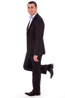 Free Full Length Of A Business Man Leaning Stock Photo - 14835730