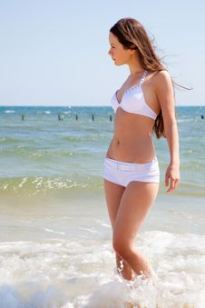 Free Beautiful Girl On Beach Stock Images - 14835814