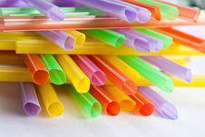 Anny Color Straw Royalty Free Stock Photo