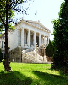 National Library Of Greece, Or Gennadeios Library Royalty Free Stock Photo