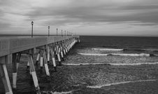 Free The Pier BW Royalty Free Stock Images - 14836649