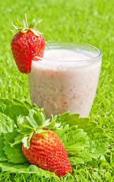 Free Strawberry Milkshake Stock Image - 14836721