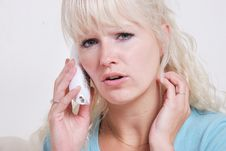 Free Blond Woman Phoning Royalty Free Stock Photos - 14836828