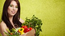 Free Woman With  Fruits Royalty Free Stock Images - 14836879