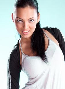 Free Pretty Brunette Wearing Sport Outfit Stock Images - 14836914