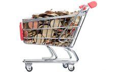 Free Isolated Shopping Cart Royalty Free Stock Photos - 14837338