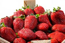 Free Fresh Ripe Perfect Strawberries Royalty Free Stock Image - 14837856