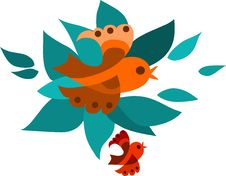 Free Orange And Red Fling Birds Royalty Free Stock Photos - 14837948
