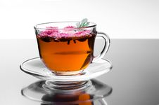 Free Cup Of Herbal Tea With Flowers Stock Photo - 14838470