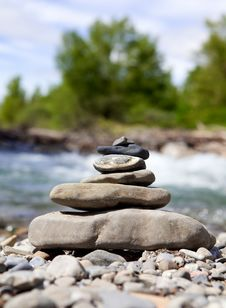 Free Stones And River Stock Image - 14838691