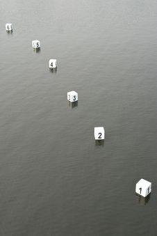 Free Watersports Finish Line Stock Image - 14838811