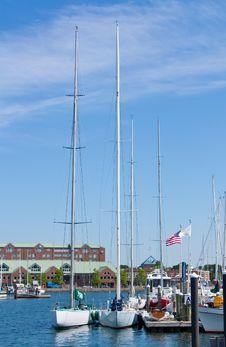 Free Sailboats At A Dock Royalty Free Stock Photography - 14838837