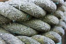 Coiled Rope Background Stock Photography