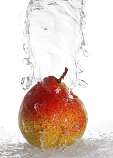 Free Water Being Poured On A Pear Stock Images - 14839034