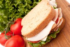 Free Turkey Breast Sandwich Royalty Free Stock Photography - 14839157