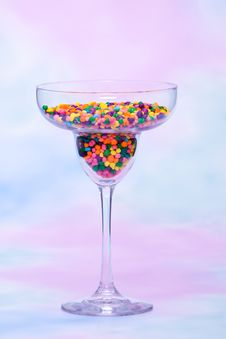 Free Margarita Glass Filled With Candy Royalty Free Stock Photos - 14839468