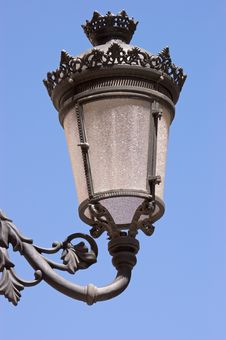 Free Old Black Street Lamp Against Sky Royalty Free Stock Image - 14839646
