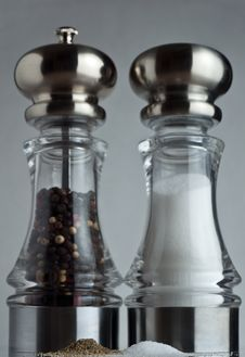 Free Towering Salt And Pepper Shakers Royalty Free Stock Photos - 14839698