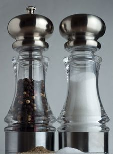 Free Towering Salt And Pepper Shakers Royalty Free Stock Photography - 14839707