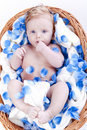 Free Baby Boy With Flower Flakes Royalty Free Stock Images - 14846349