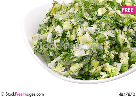 Free Fresh Salad From Vegetables And Greens On Stock Photo - 14847870