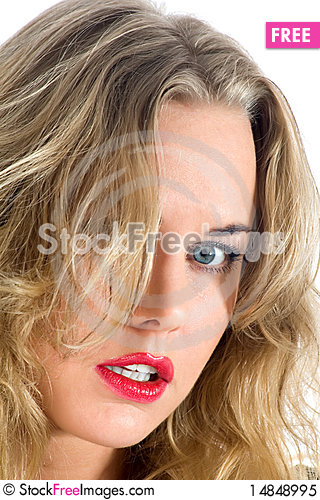 Free Portrait Of The Blonde With Blue Eye Royalty Free Stock Photo - 14848995
