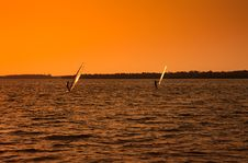 Free Wind Surfers On The Gulf Of Mexico Stock Image - 14840021