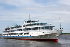 The White Steamship Royalty Free Stock Images
