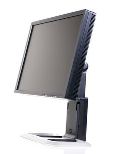 Modern Black Computer Monitor Royalty Free Stock Photo