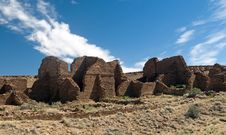 Kin Bineola Ruins, Chaco Canyon Royalty Free Stock Photography